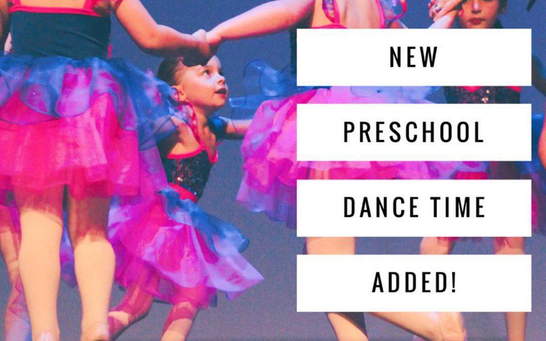 New Preschool Dance Time Added
